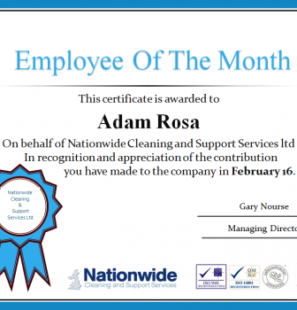 "FEBRUARY 16 ""EMPLOYEE OF THE MONTH"""